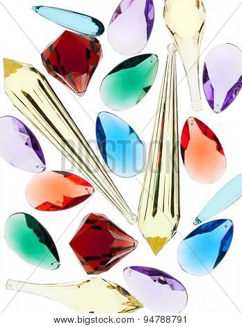 backlit colorful plastic gem stones