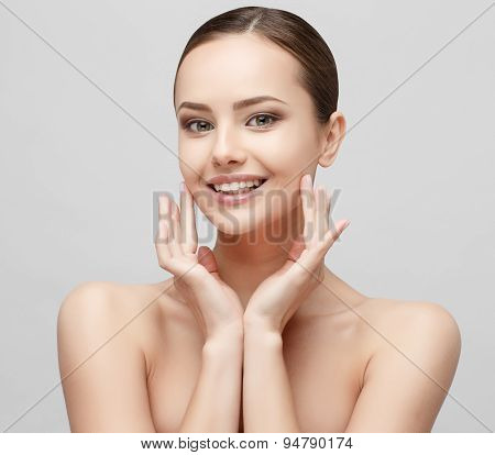 Beautiful Woman with Clean Fresh Skin