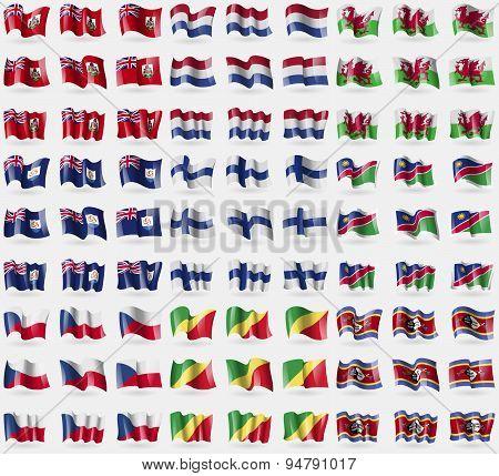 Bermuda, Netherlands, Wales, Anguilla, Finland, Namibia, Czech Republic, Congo Republic, Swaziland.