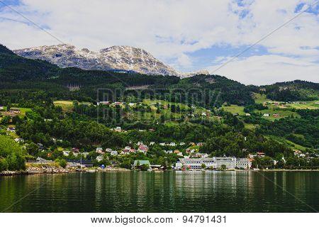 View of village Ulvik, Norway