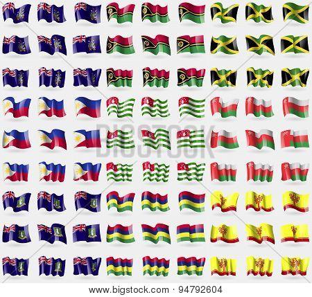 Georgia And Sandwich, Vanuatu, Jamaica, Philippines, Abkhazia, Oman, Virginislandsuk, Mauritius, Chu