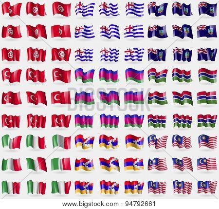 Tunisia, Ajaria, Montserrat, Turkey, Kuban Republic, Gambia, Italy, Karabakh Republic, Malaysia. Big