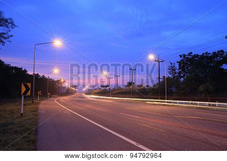 Road With Light Pole