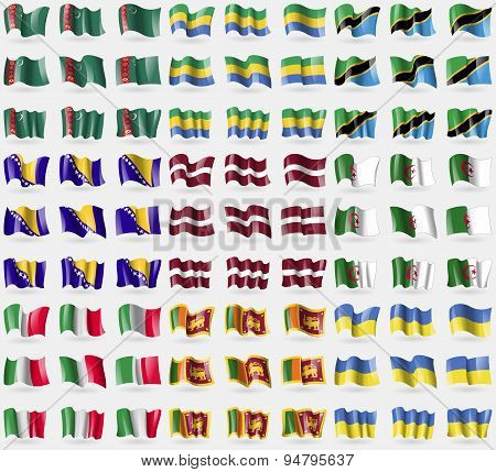Turkmenistan, Gabon, Tanzania, Bosnia And Herzegovina, Latvia, Algeria, Italy, Sri Lanka, Ukraine. B