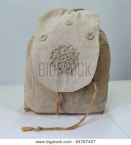 Handmade Flax Backpack