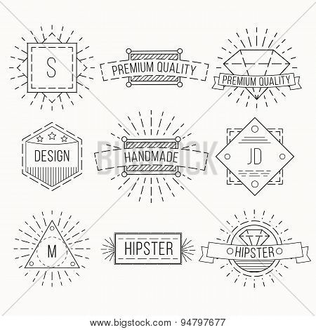 Outline badges and emblems template