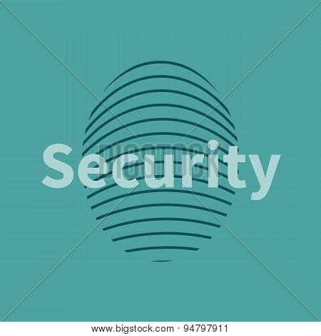 Fingerprint icon with security text.