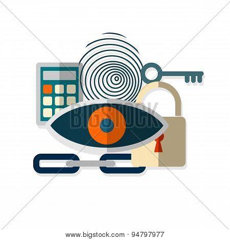 Web security concept icon.