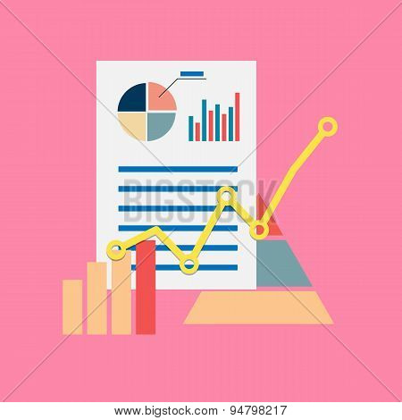 Flat modern vector icon of seo or business theme
