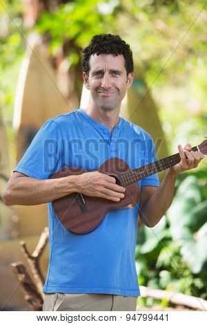 Ukelele Performer In Hawaii