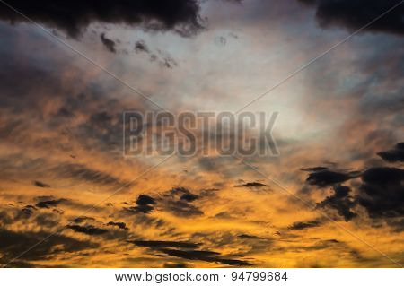 colorful dramatic sky