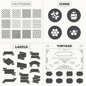 stock photo of honeycomb  - Seamless patterns - JPG