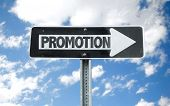 picture of promoter  - Promotion direction sign with sky background - JPG