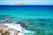 stock photo of na  - a view of the Illa de Espartar island in the Balearic Islands - JPG