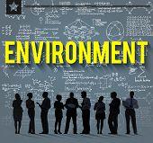 stock photo of environmental conservation  - Global Green Business Environmental Conservation Concept - JPG