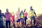 pic of bonding  - Diverse Beach Summer Friends Fun Bonding Concept - JPG