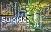 foto of suicide  - Background concept wordcloud illustration of suicide glowing light - JPG