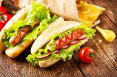 stock photo of hot dog  - Hot dog - JPG