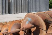 image of auger  - Augers for drilling of the ground for laying drain pipes - JPG
