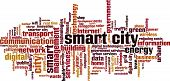 foto of smart grid  - Smart city word cloud concept - JPG