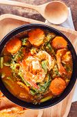 stock photo of tamarind  - hot and sour curry with tamarind sauce - JPG