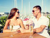 stock photo of champagne glasses  - love - JPG