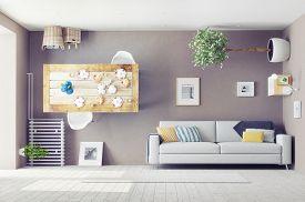 foto of errat  - strange living room  interior - JPG