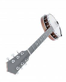 stock photo of banjo  - 3d illustration banjo close - JPG