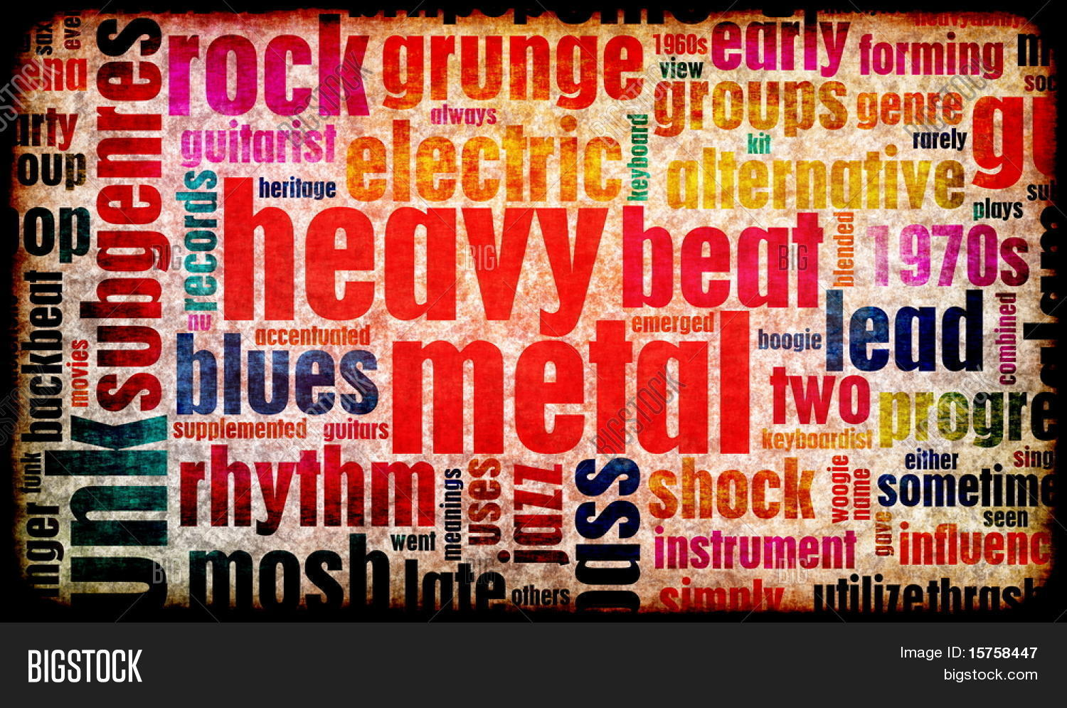 Metal music background - Heavy Metal Music Poster Art As A Background