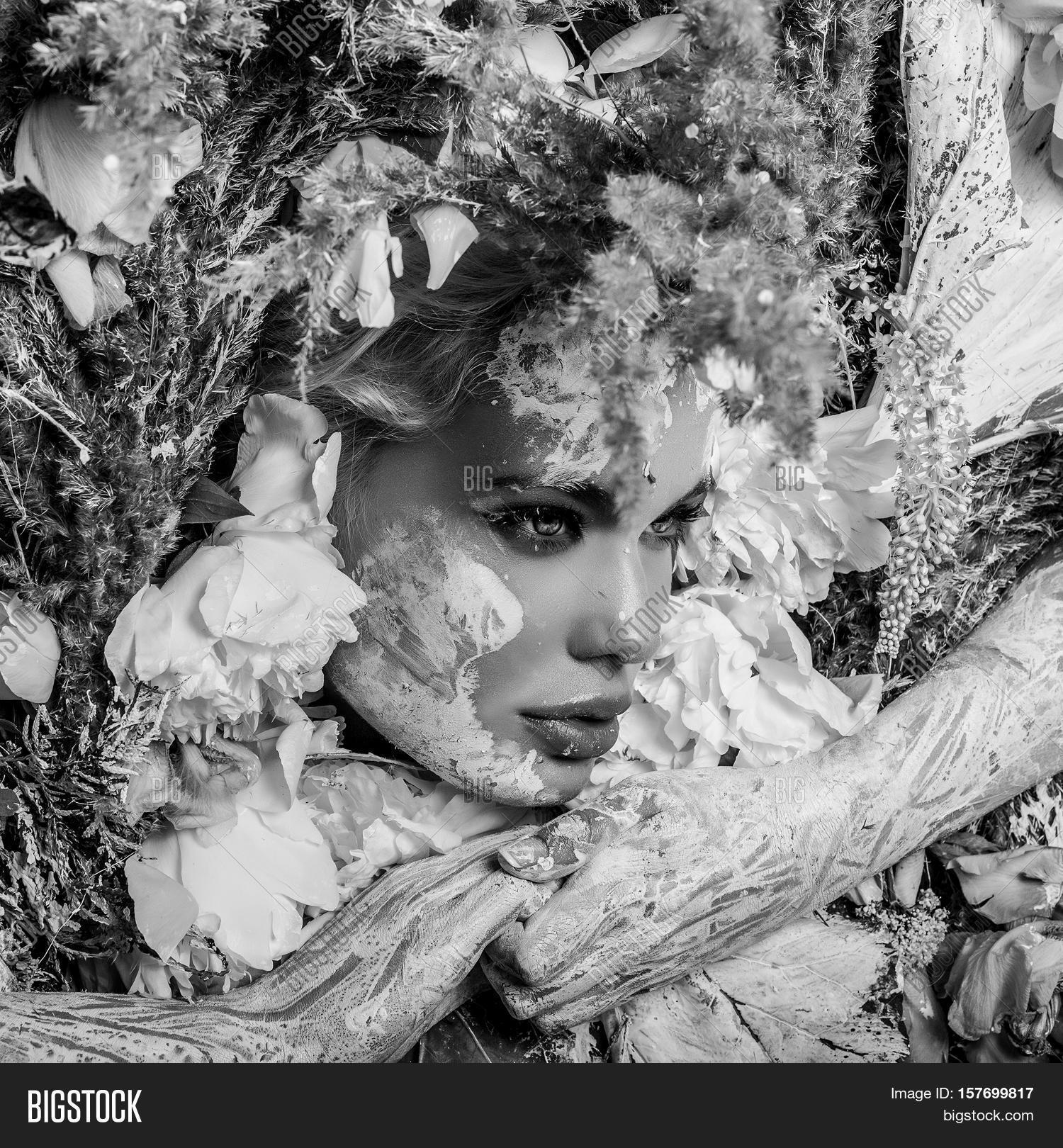 Fairy Tale Girl Portrait Surrounded Image Photo