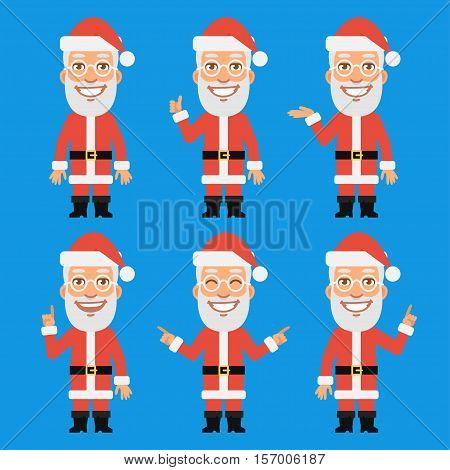 Vector Illustration, Santa Claus Shows and Indicates, Format EPS 8