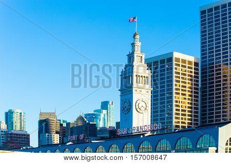 Rear Ferry Building San Francisco Port Downtown H