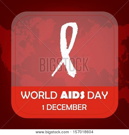 Aids awareness Ribbon Background. 1 December - World aids day. Vector illustration