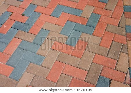 Diagonal Brick Pavers
