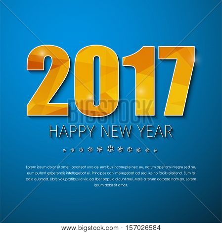 Template Square Banner (background) Happy New Year 2017