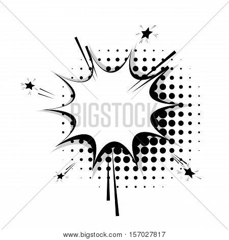 Blank template comic speech star bubble halftone dot background style pop art. Comic dialog empty cloud, space text style pop art. Creative composition idea conversation comic sketch explosion sudden