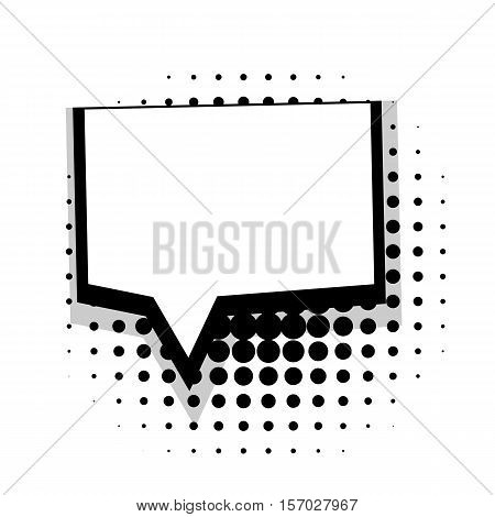 Blank template comic speech square bubble halftone dot background style pop art. Comic dialog empty cloud, space text style pop art. Creative composition idea conversation comic sketch explosion