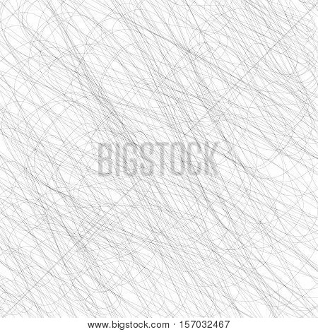 Black Grunge Strokes Isolated on White Background. Black Careless Sketch.