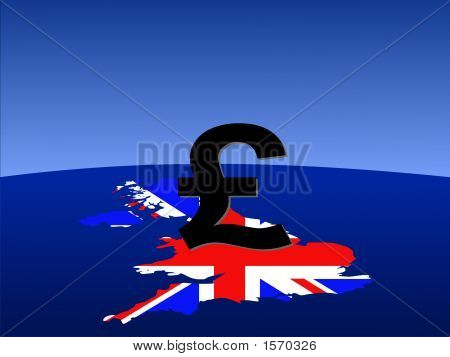 British Pound Sign With Map