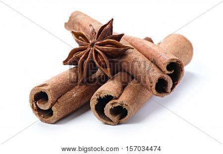 Cinnamon Stick Spice Isolated On White
