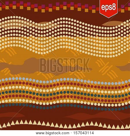 Abstract art seamless texture. Tribal, ethno style