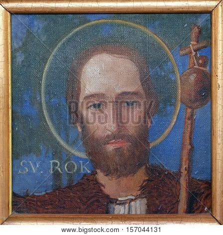 KRASIC, CROATIA - JUNE 11: Saint Roch, Parish church of the Holy Trinity in Krasic, Croatia on June 11, 2016