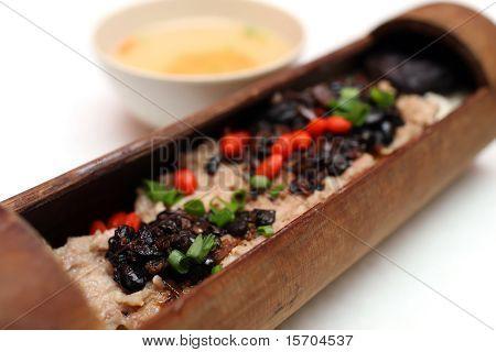 Black Bean Chicken Bamboo Rice