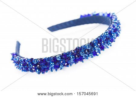 One blue jewelry headbands for female hair