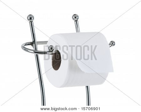 Full Toilet Paper Roll On The Stand