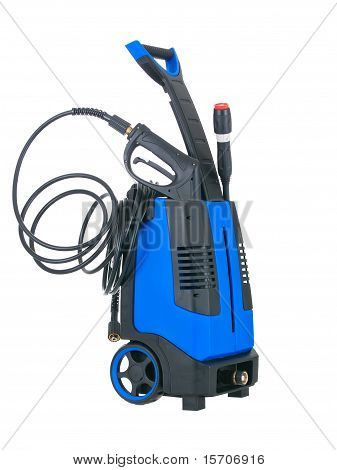 Blue Pressure Portable Washer With Inserted Gun