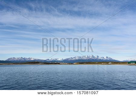 Isla gordon viewed from Beagle chanel (Tierra del Fuego)