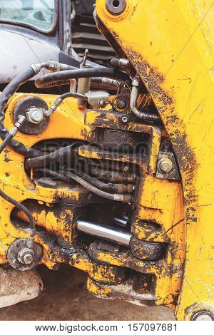 Toned The Hydraulic System, High-pressure Rubber Hoses, Shaft Power Systems Unit Construction Bulldo