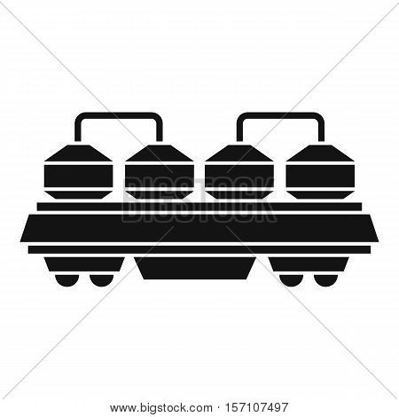 Rail wagon for construction materials icon. Simple illustration of rail wagon vector icon for web design