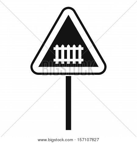 Warning road sign icon. Simple illustration of warning road sign vector icon for web design